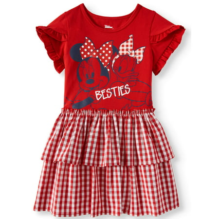 Minnie Mouse Tiered Skirt Dress (Toddler Girls) - Minnie Mouse Pink Dress