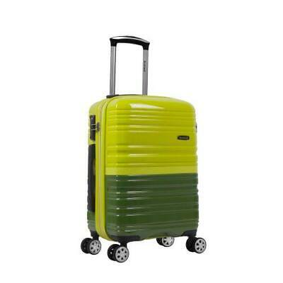 """Melbourne 20"""" Expandable Polycarbonate Carry On, Lime/Green"""