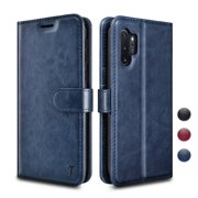 Galaxy Note 10 Plus Case, Njjex Galaxy Note 10+ 5G Case [3 Card Slot] [Kickstand] [Gift Box] Leather Folio Flip Wallet Case [RFID Blocking] for Samsung Galaxy Note 10 Plus 2019 - Blue