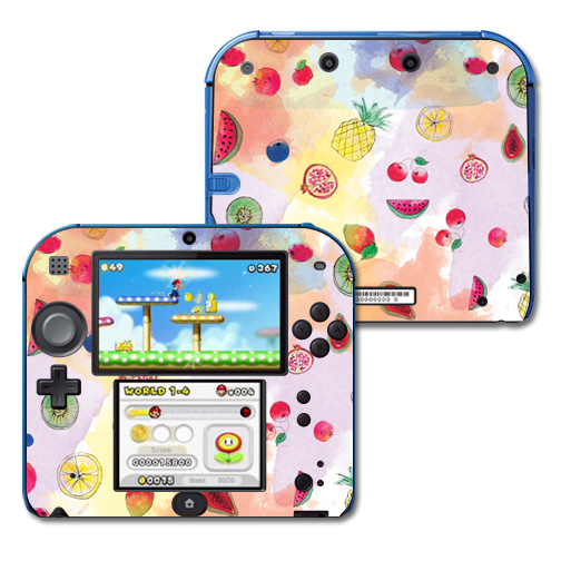 Mightyskins Protective Vinyl Skin Decal Cover for Nintendo 2DS wrap sticker skins Fruit Water