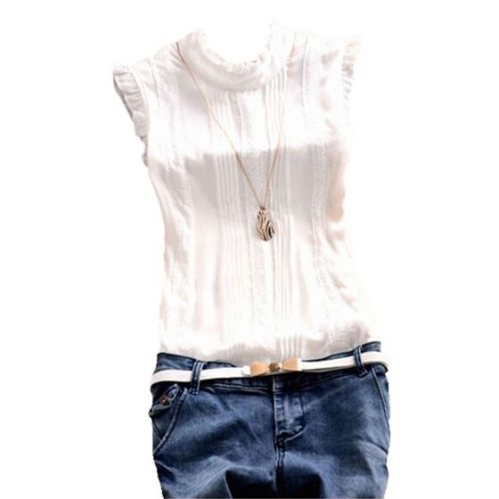 eae2a35492a3e5 EFINNY - EFINNY Women Summer Sleeveless Office Work Casual T-Shirt ...