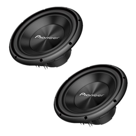 """Two Pioneer TS-A250D4 10"""" Dual 4 ohms Voice Coil Subwoofers ()"""