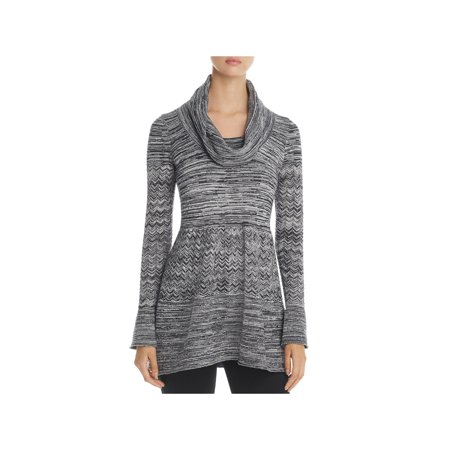 Heather B Womens Cowl Tunic Sweaterdress