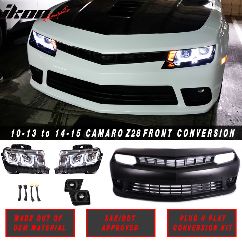 10-13 Chevy Camaro to 14 SS Front Bumper Conversion Chrom...