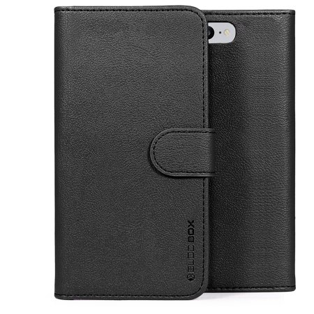 the best attitude ffdc0 33993 BUDDIBOX iPhone 7 Case / iPhone 8 Case Leather Wallet Protective Phone  Cover Case for Apple iPhone 7 and iPhone 8