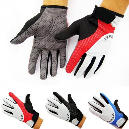 Street Riding Gloves - COOL MAX Cycling Motorcycle Sports Full Finger Racing Bicycle BMX MTB Road Bike Riding Gloves Red,Red M color