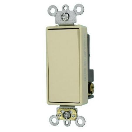 Leviton 5621-2I Ivory Decora Plus Single Pole Rocker Light Switch (Single Pole Decora Rocker Switch)