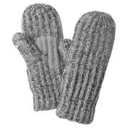 isotoner womens chunky gray sequin cable knit mittens with sherpasoft lining
