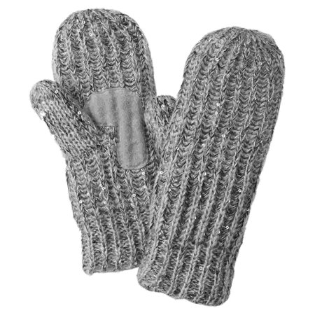 Cable Mitten - isotoner womens chunky gray sequin cable knit mittens with sherpasoft lining