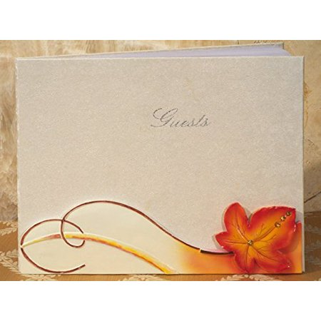 Fall / Autumn Themed Wedding Guest Book, Each guest book comes individually gift boxed and measures 8