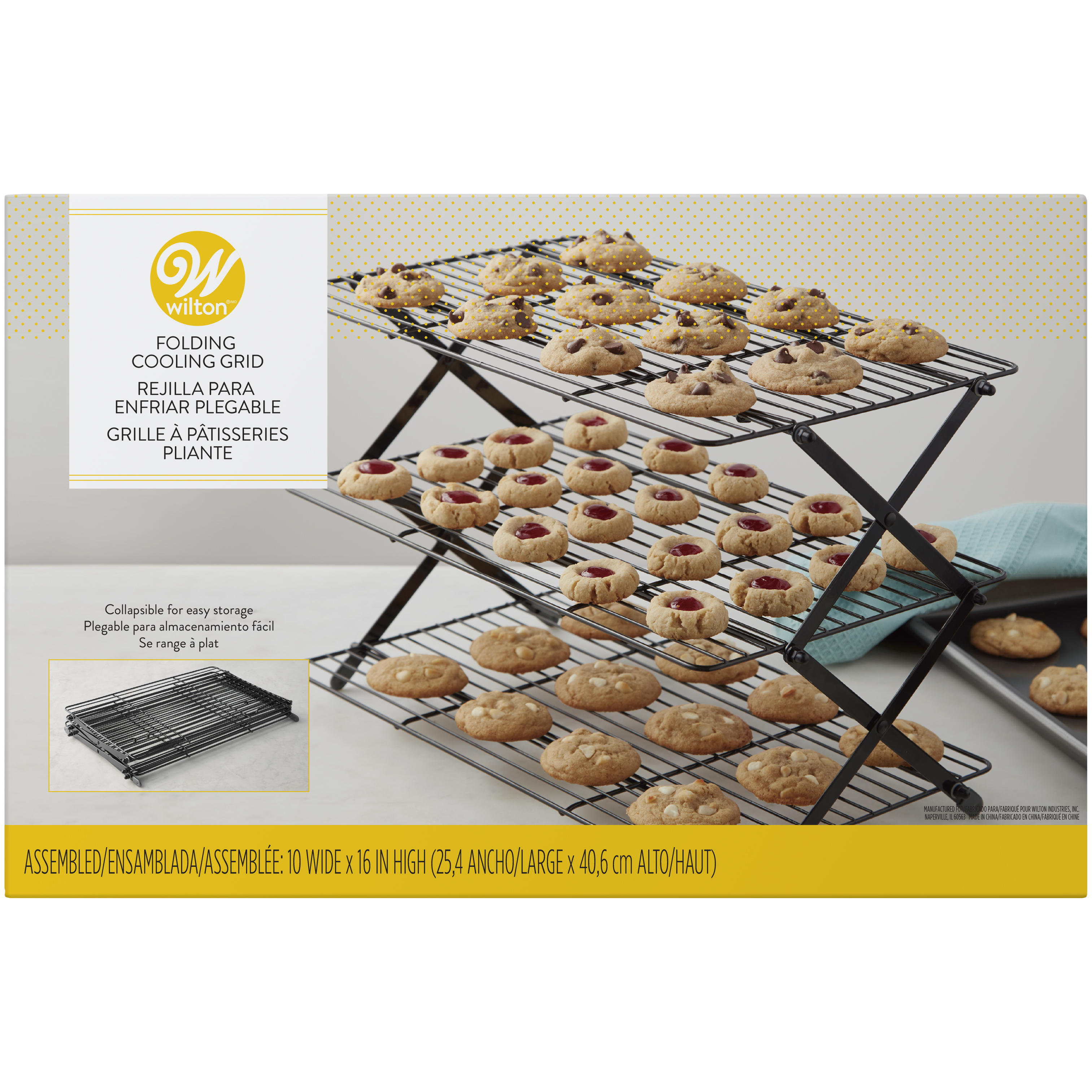 Tremendous Wilton 3 Tier Collapsible Cooling Rack Walmart Com Beutiful Home Inspiration Cosmmahrainfo