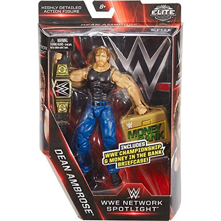 Elite Collection, Network Spotlight 6 Dean Ambrose figure with Championship & Money in the Bank Briefcase By WWE Ship from