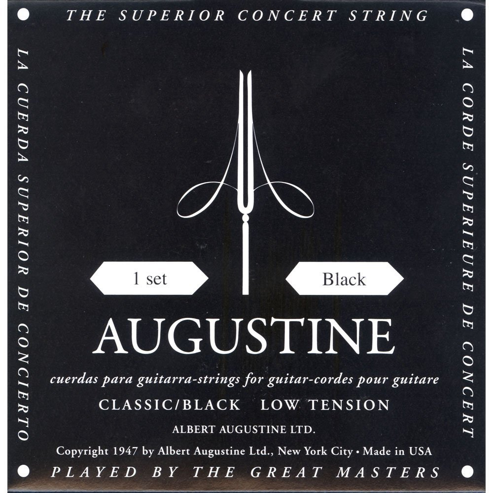 AUGBLKSET Nylon Classical Guitar Strings, Light, Classical String Set By Augustine Ship... by