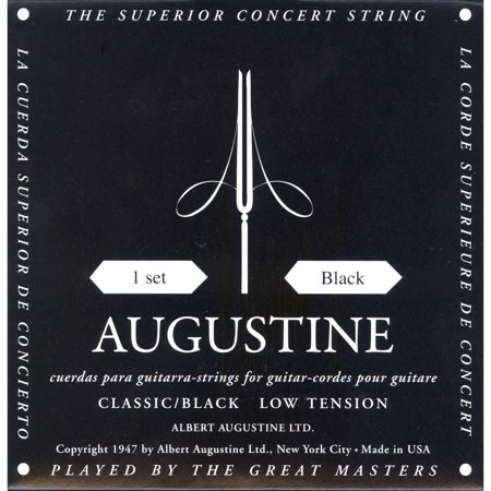 AUGBLKSET Nylon Classical Guitar Strings, Light, Classical String Set By Augustine Ship from US