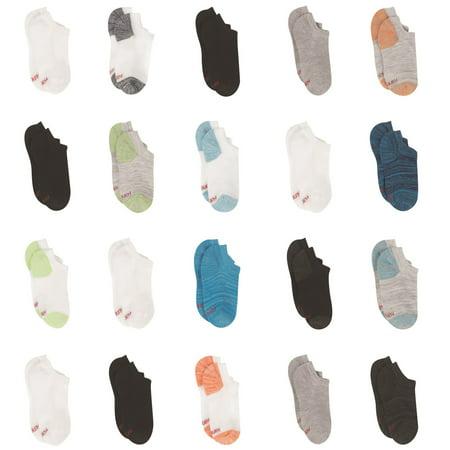 Hanes Boys Socks, 20 Pack No Show Super Value Socks, Sizes S-L