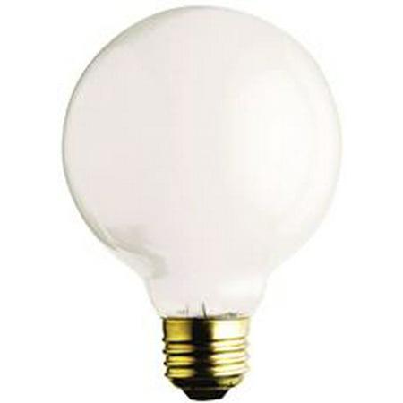 SATCO� INCANDESCENT GLOBE LAMP, G25, 40 WATTS, 130 VOLTS, MEDIUM BASE, GLOSS WHITE, 6 PER BOX per 4 Box 130 Volt Par20 Medium Base
