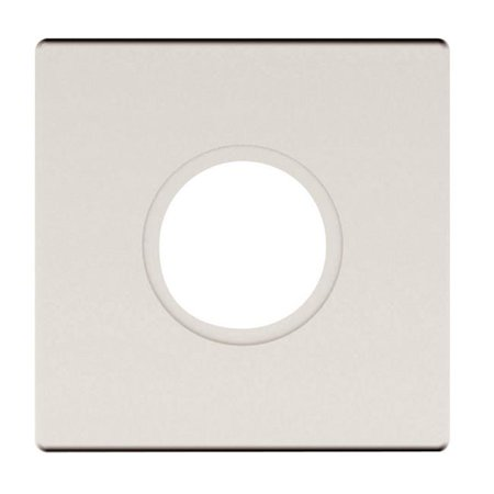 Satin Nickel Estate Egg - Baldwin R017150PS 2.62 in. Pair of Estate Passage Rosette, Satin Nickel