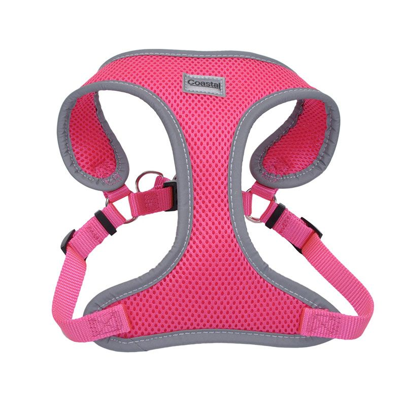 Coastal Pet Comfort Soft Reflective Wrap Adjustable Dog Harness Neon Pink - X-Small - 16-19 Inch Girth - (5/8 Inch Straps)