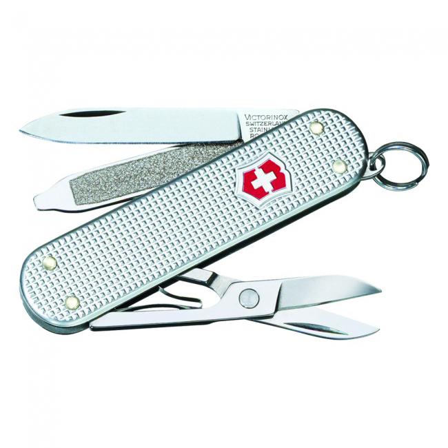 Victorinox Swiss Army Classic SD Alox Pocket Knife - Silver