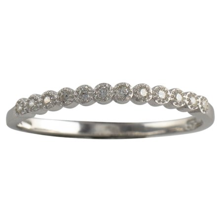 Sterling Silver Micro Pave CZ Womens Eternity Band 925 Ladies Ring Size 5