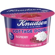 Knudsen Low Fat 2% Milkfat Cottage Cheese Doubles with Raspberry Topping, 4.7 oz Cup