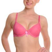 Angelina Wired Lace Bras with Convertible Straps (6-12 Pack)