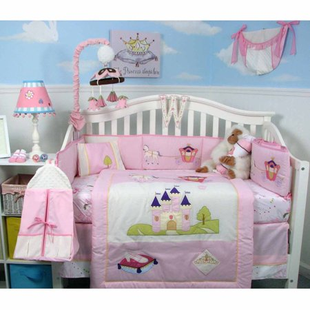 ac6c5eaeee4 Boutique Royal Princess Baby 14 Piece Crib Bedding Set - Walmart.com
