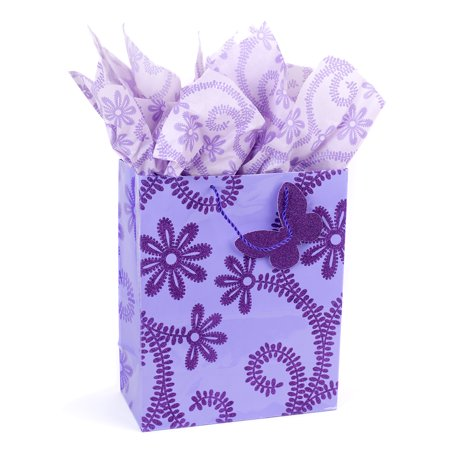 Hallmark Large Gift Bag with Tissue Paper for Birthdays, Bridal Showers, Weddings and More (Lavender)