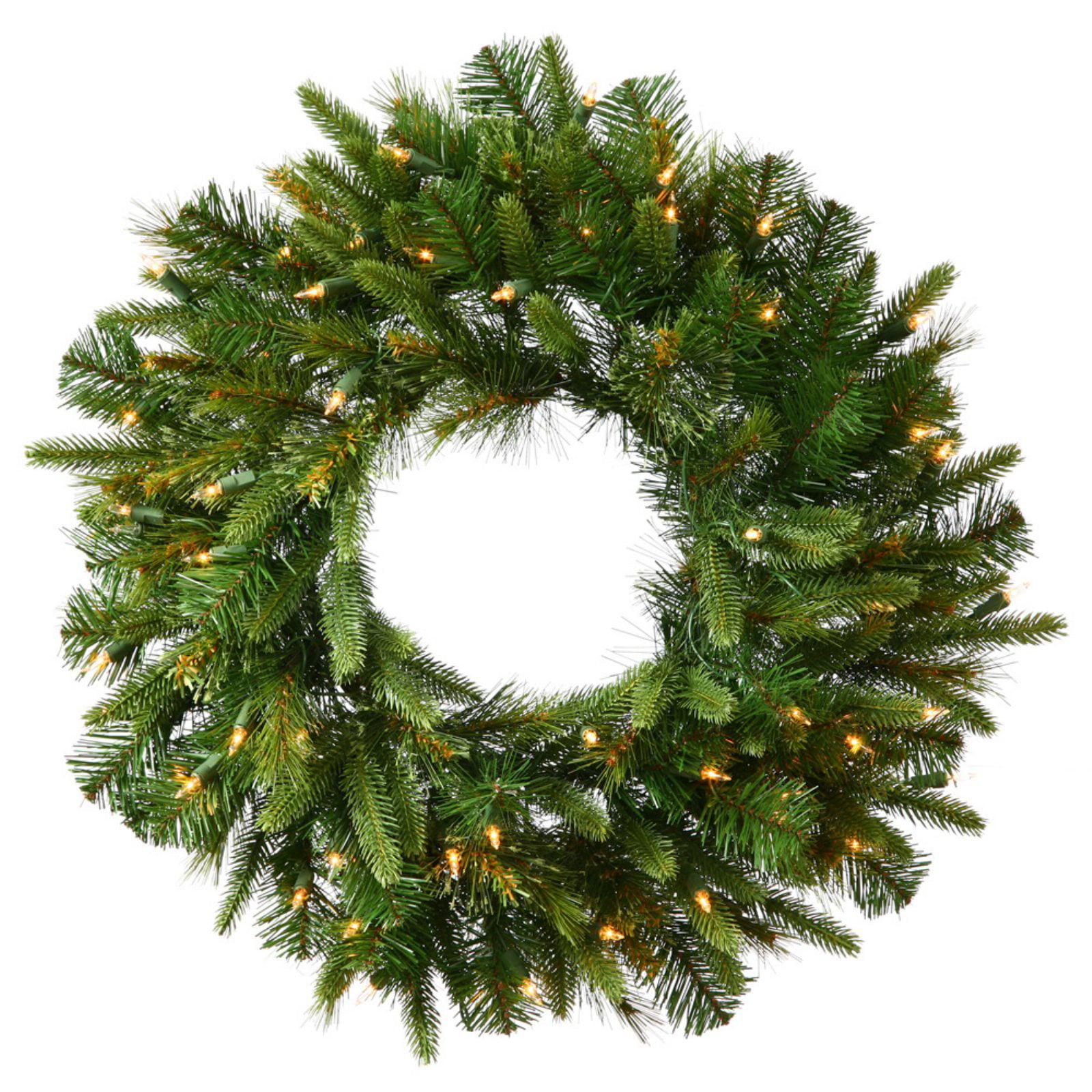 "Vickerman 72"" Cashmere Wreath LED400 Warm White"