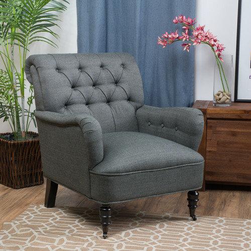 Danielle Tufted Club Chair by GDF Studio
