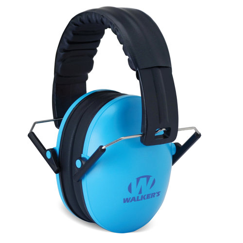 Walker's Game Ear Bi-Folding Kid Muff, Blue