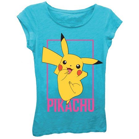 Girls' Pikachu Pose Short Sleeve Graphic T-Shirt