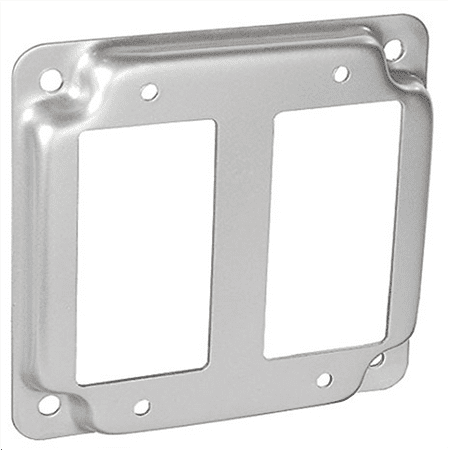 4 Inch Square 1/2 Inch Raised Two Decorative Or Gfci Receptacle Industrial Surface Cover