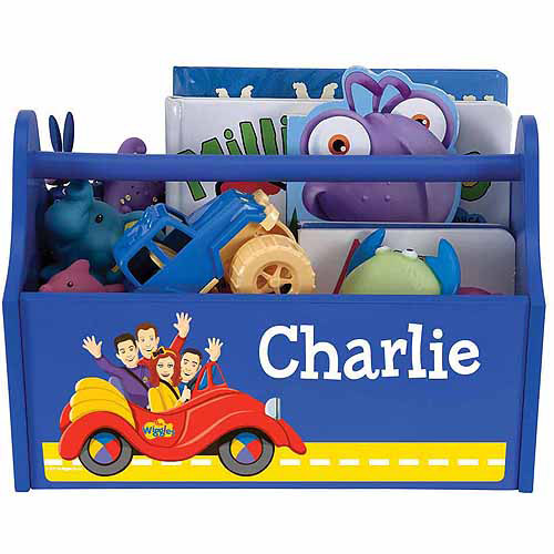 Personalized The Wiggles Big Red Car Royal Blue Toy Caddy