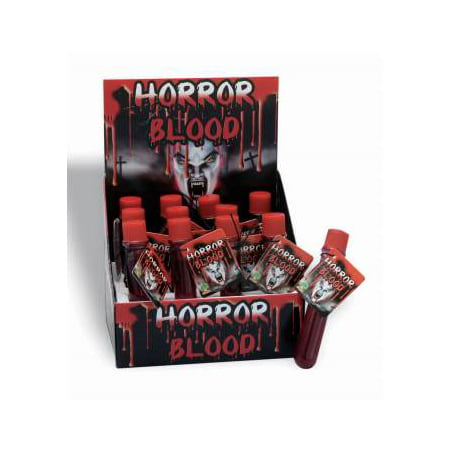 TEST TUBE HORROR BLOOD 12 PACK (Halloween Test Tube Shots)