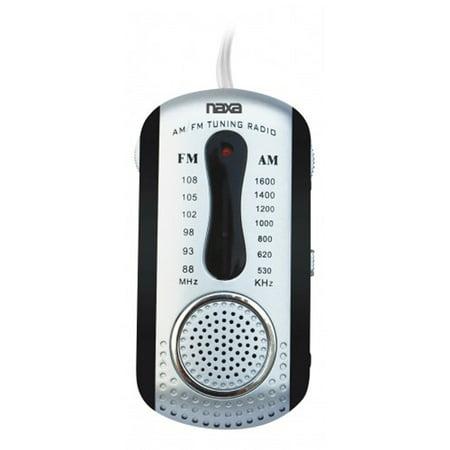 Naxa AM/FM Mini Pocket Radio with Built-In Speaker (Naxa Pocket Radio)