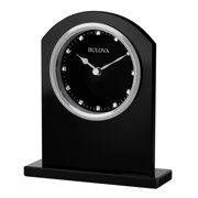 Bulova Ebony Crystal Desk Clock
