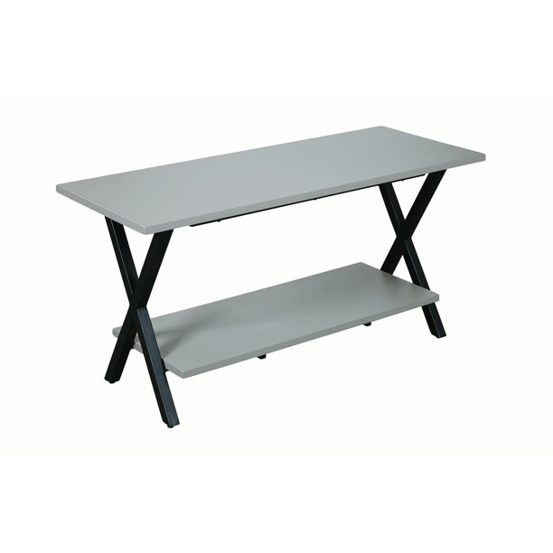 """Cornerstone Wood and Concrete-Coated Top 36"""" Entryway Bench"""