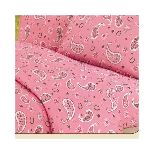 HiEnd Accents Paisley Sheet Set in Pink