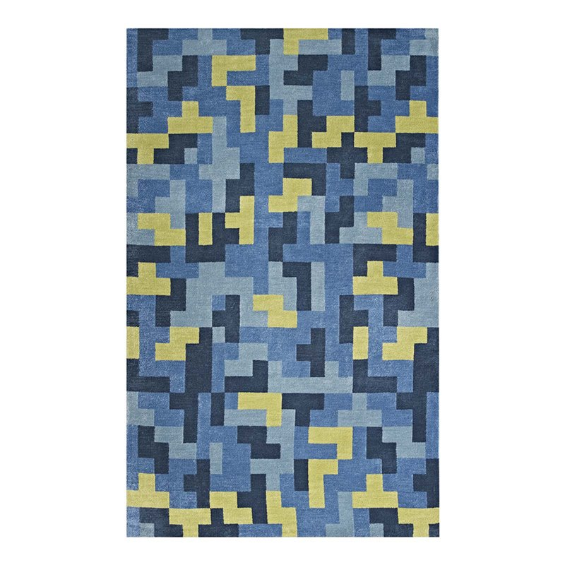 Modway Andela Interlocking Block Mosaic Area Rug