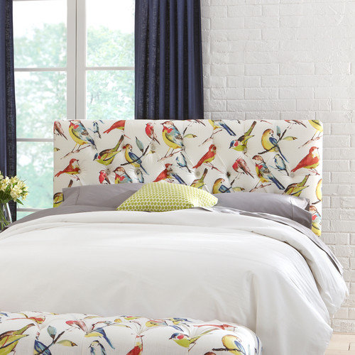 Skyline Furniture Tufted Birdwatcher Upholstered Headboard