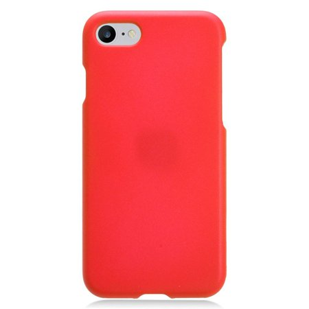 Insten Rubberized Hard Snap-in Case Cover For Apple iPhone 8 / iPhone 7 (4.7 inch), Red Dark Red Rubberized Snap