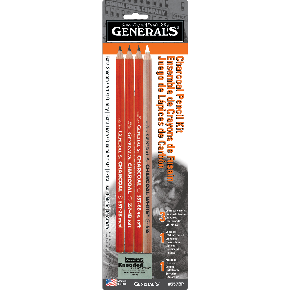 Charcoal Pencil Kit 5pcs-