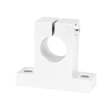 Unique Bargains Silver Tone Aluminum 20mm CNC Pillow Block Bearing Linear Guide Support (Linear Guide Cnc)