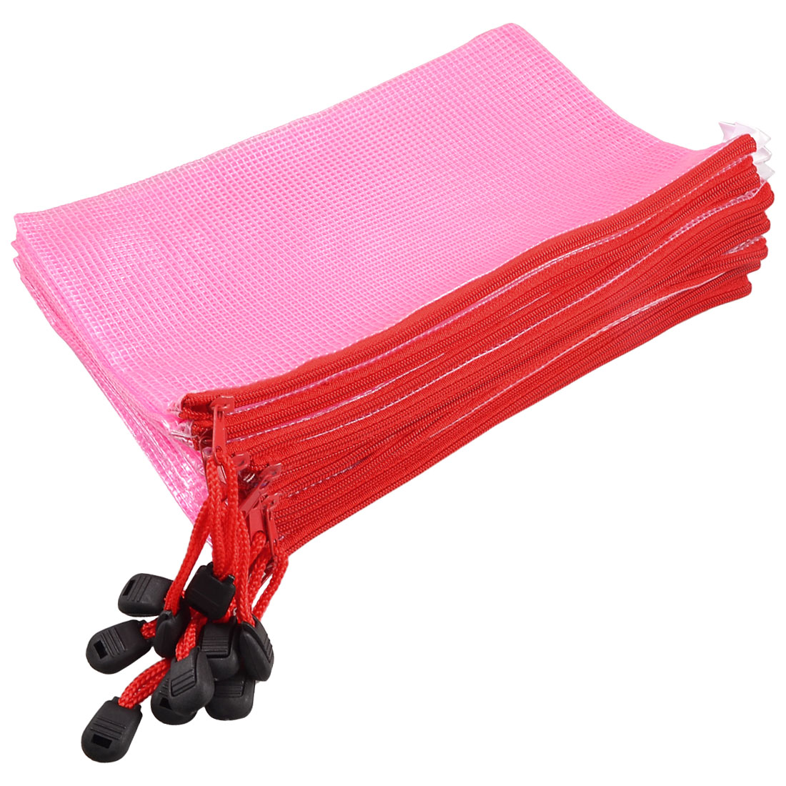 Unique Bargains Unique Bargains Home Office Water Resistant Pink A5 File Paper Document Holder Bag 10 Pcs