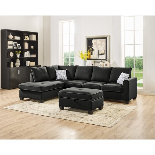 Ebern Designs Whitehaven Reversible Sectional with Ottoman