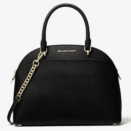 2812cd55a71d Michael Kors Emmy Large Cindy Dome Satchel Bag Black Saffiano - Walmart.com