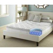 Contura Flex 10 Inch Pillow Top Medium Firm Innerspring Hybrid Mattress Bed, Queen