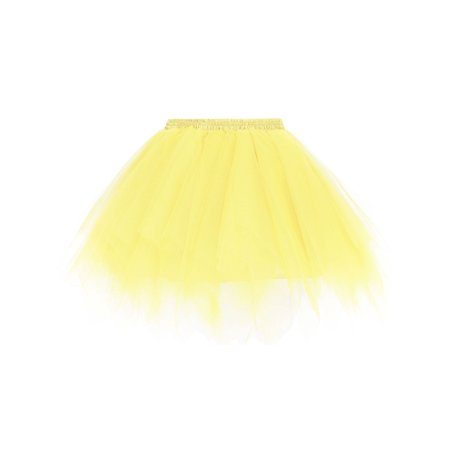 Women's Adult 80s Retro Tutu Fluffy Party Skirt Princess Ballet Pettiskirt - Make An Adult Tutu