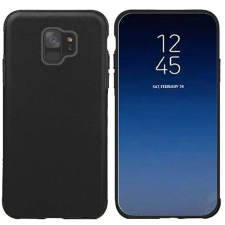 Samsung Galaxy S9 Case, by Insten Leather Rubber TPU Candy Skin Case Cover For Samsung Galaxy S9, Black - image 2 of 4